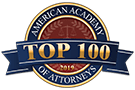American Academy of Attorneys - Top 100 badge